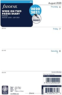 Filofax 斐来仕 2020 年 8 月至 2021 年 7 月,A5,学术周观看,英语(C68562-21)