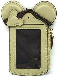 旅行颈袋,可爱动物米奇身份证卡夹可爱小时尚学生身份证夹硬币钱包,适合女士/女孩 *