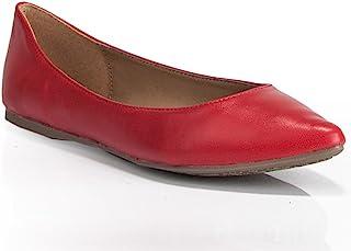 ROF 女式经典休闲考究舒适柔软易穿尖头芭蕾平底鞋