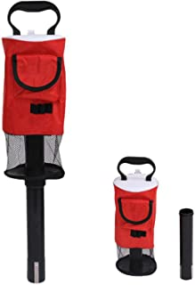 EONSMN 高尔夫球猎犬,便携式短球袋高尔夫球拾音器,带可拆卸塑料管,口袋披肩存放
