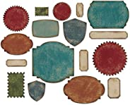 Sizzix Labels Thinlits Dies by Tim Holtz, 17-Pack