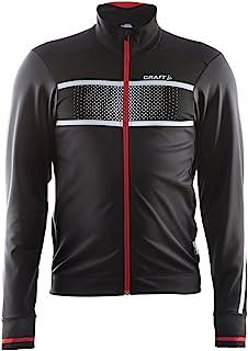 Craft 男式发光高能见度自行车骑行训练反光夹克