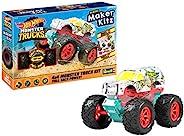 Revell 威望 50318 怪物卡车Hissy Fit,玩具车 1:32 带跳跳跳跃 Hot Wheels 制作机 Kitz-组装和出发 带回拉马达(回拉)白色/黄色