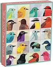 Galison Avian Friends 1000件七巧板平涂,多色,1件