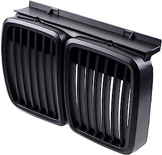 1 对前罩肾格栅兼容 19882-1994 E30 3 系列(哑光黑色)
