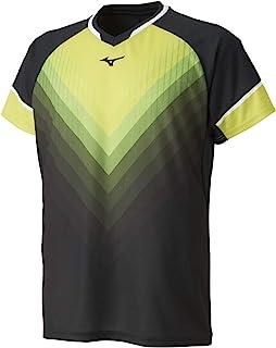 [Mizuno 美津浓] 羽毛球服 运动衫 短袖 标准 动作贴合 吸汗速干 软式网球 羽毛球 72MA9004