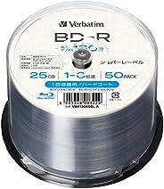 Verbatim 威寶 1次錄像用 藍光光盤 BD-R 25GB 50張 1-6倍速 附帶銀色標簽 VBR130R50L-A