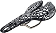 CHXIHome 山地自行车黑色骑行设备赛车骑行透气座垫鞍碳纤维自行车配件(黑色)