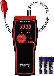 数字气体探测器 便携式丙烷和天然气体泄漏测试仪 可燃气传感器探头 声音/灯光警告 LED 显示屏 PPM 或 * LEL 测量