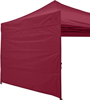 abccanopy 15+ 颜色10' SUN 墙上适用于10X 10' 直筒 POP UP CANOPY 帐篷10' 侧壁套装 (1面板) 带 truss 肩带 *红色 118inches by 87 inches