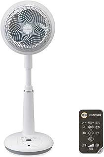 IRIS OHYAMA 空气循环风扇 上下左右摆动 30叠(约48.6平方米) 强力送风 DC电机 带遥控器 白色 STF-DC18T 需配变压器
