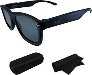 7Shade 偏光 LCD 太阳镜可调节防眩光调光镜片 UV400 中性款