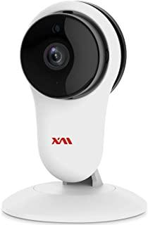 XM 智能家用摄像头,无线 IP *摄像头 1080P 室内监控摄像头,带 AI 人检测,夜视,双向音频,2.4GHz WiFi 婴儿监视器,适用于 Nanny/家庭/办公室,带 iOS/Android