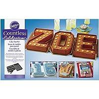 Wilton Countless 庆典套装,10 件字母和数字蛋糕盘,STD