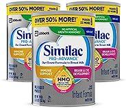 Abbott 雅培 Similac 铂优恩美力 Pro-Advance Non-GMO 婴儿奶粉,不含铁,带有2'-FL HMO,用于机体支持,36盎司,1.02千克,3罐(每月供应)