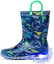 Outee 幼童男孩女孩印花浅色雨靴