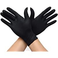 100 件一次性手套强力丁腈乙烯,不含粉末,不含乳胶保护食品家庭**护理鹅颈
