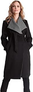 Seraphine 孕妇外套 Donatella 羊毛和羊绒双色孕妇外套 黑色 UK10