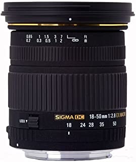 Sigma 18-50mm f/2.8 EX DC SLD ELD Aspherical Macro 镜头适用于索尼数码单反相机。