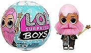 LOL Surprise! 男孩系列 5 娃娃 - 7 种惊喜开启盒,包括贴纸、时尚及配件 - 水变化效果,可重复使用的包装玩具套装 - 适合 3 岁以上男孩和女孩
