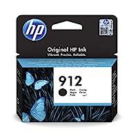 HP 惠普 912 (3YL80AE) 原裝打印機墨盒(適用于 HP 惠普 OfficeJet Pro 8010, HP 惠普 OfficeJet Pro 8020)黑色
