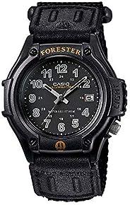 Casio FT500WC-1BV 男式 Forester Illuminator LED 灯黑色表盘魔术贴表带模拟手表