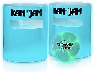 Kan Jam 便携式圆盘投掷户外游戏 - 采用耐用、防风雨材料 - 包括 2 个 Kan Jam 靶子和 1 个飞盘;多种款式可选