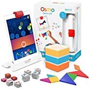 Osmo  Genius Kit小天才套组系列 5 适配iPad 动手学习类游戏 适合6-10岁 训练数学 拼写 解决问题和创造力的能力 STEM 包含iPad底座