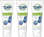 Tom's of Maine 天然儿童牙膏,野生蓝莓,5.1盎司 144克