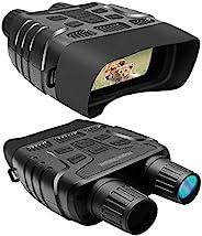 Lovinouse 高级夜视护目镜,数码红外夜视双筒望远镜,带 2.31 英寸 TFT LCD 显示屏,984 英尺/300 米观看范围拍摄960P 视频,支持32 克存储卡