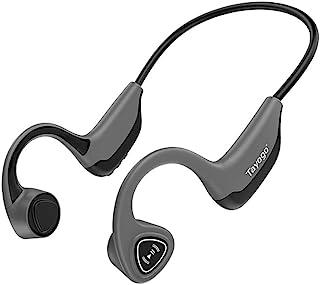 Bone 传导耳机,开放式耳无线骨传导蓝牙耳机,适用于运动健身 - 灰色