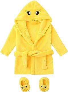 婴儿婴儿法兰绒浴袍,中性款幼儿毛巾长袍连帽睡衣睡衣