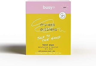Busy Beauty | 手擦 | 洗手湿巾 | 无淋浴清洁 | 植物性,无铝 | 所有皮肤类型 | 素食 | 无刺激 | 不含防腐剂 | 无香味(无香味光泽,10 张湿巾)