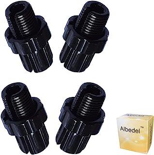 Albedel 4 件 10 毫米 M10 自行车刹车手柄紧固件调节杆螺丝螺栓 MTB 自行车铝合金山地自行车公路自行车 公路自行车 黑色