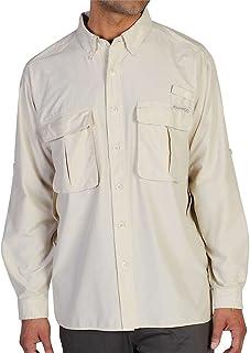 ExOfficio 男式空气条纹微距格子长袖衬衫