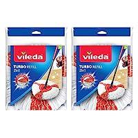 Vileda Easy Wring & Clean Turbo 2 in1 Microfibre Mop Refill Head - Pack of 2