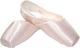 Danzcue Women's Pointe Shoes Flexiable Soft Shank With Ribbon