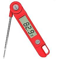 即時讀取肉類溫度計 廚房烹飪食物糖果溫度計帶磁鐵適用于油炸燒烤爐吸煙者溫度計