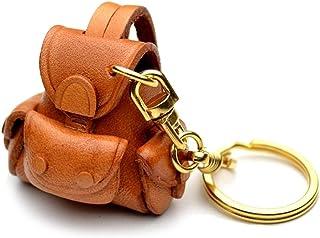 背包 3D 皮革钥匙扣 (L) VANCA CRAFT 收藏钥匙圈吊坠 日本制造