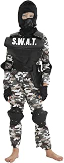 儿童 SWAT 服装 军服 警察套装 特种兵 角色扮演 万圣节 迷彩 *礼品