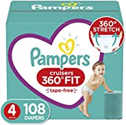 Pampers 帮宝适 Cruisers 360° Fit 一次性婴儿尿布 Cruisers 4 108