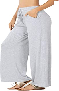 Zenana Plus 优质面料休闲裤宽松版型带抽绳腰带