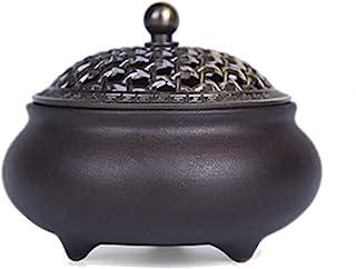 ZIFEIYU 双色陶瓷香炉 深棕色