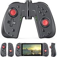 Vivefox 无线控制器 操纵杆 游戏手柄 兼容开关 Lite C25(黑红)