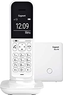 Gigaset CL390 无绳设计电话,无电话答录机 – DECT 电话带免提功能,大型图形显示屏 – 易于使用,带有直观的菜单导轨,Lucent White