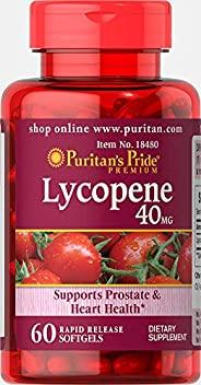 Puritan's Pride 普丽普莱 番茄红素速释软胶囊补充剂,40毫克,支持男性器官和心脏**,含有抗氧化特性**