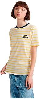 Superdry Dakota 女士条纹图案 T 恤