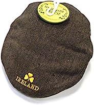 Connemara Ireland Golfer 棕色粗花羊毛拼接帽.