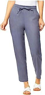 32 DEGREES 女士弹力亚麻混纺长裤(灰色,S)