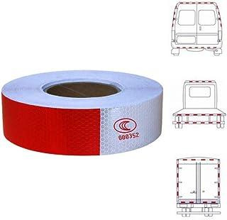 Benliu 反光带 DOT-C2 认证红白色防水引人注目的拖车*反射器 2 英寸 x 10 英尺适用于车辆、卡车、拖车、房车露营机